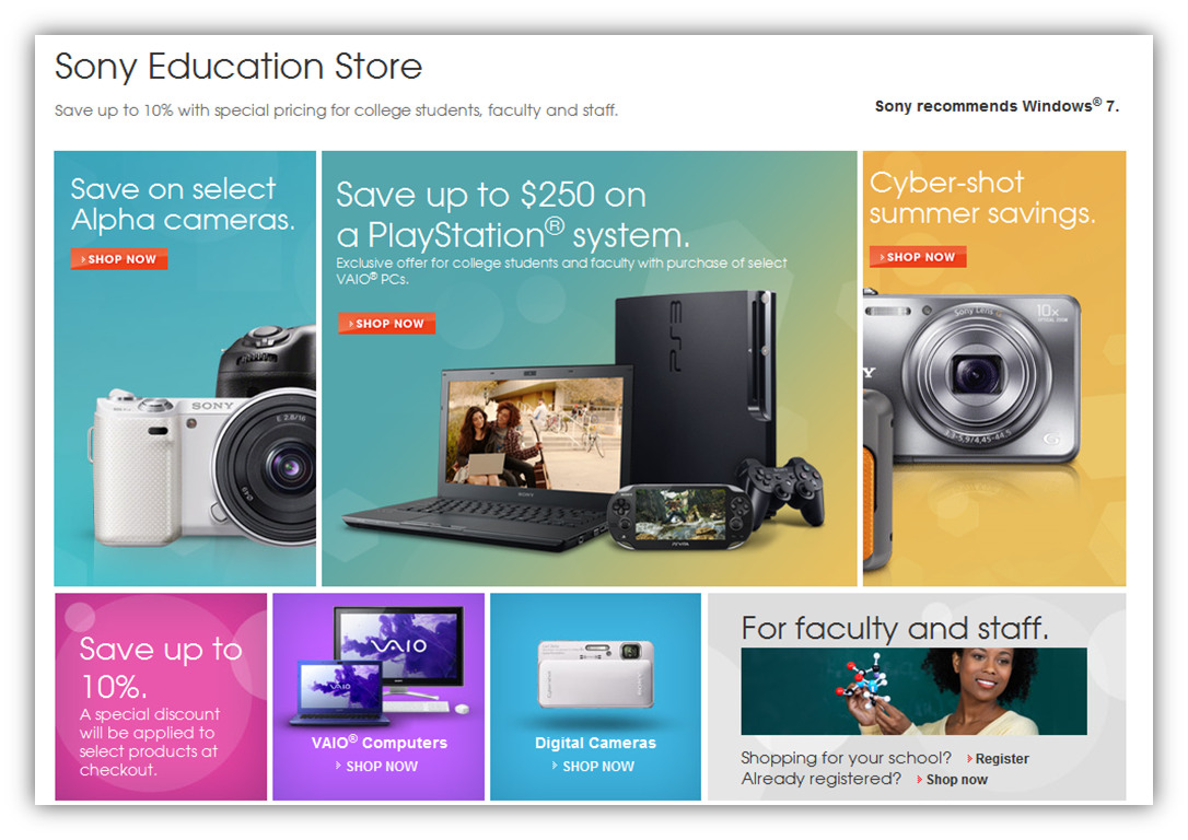 Sony Online Education Store | Landing Page Redesign – Kelly Fuson