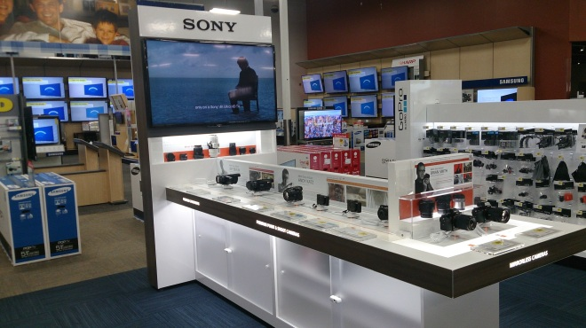 Sony Freestanding Display