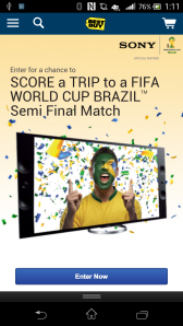 Sony World Cup Mobile Sweeps Mircosite